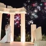 Wedding fireworks at Apollo Blue