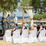 LINDOS beach acropolis view wedding ceremony venue