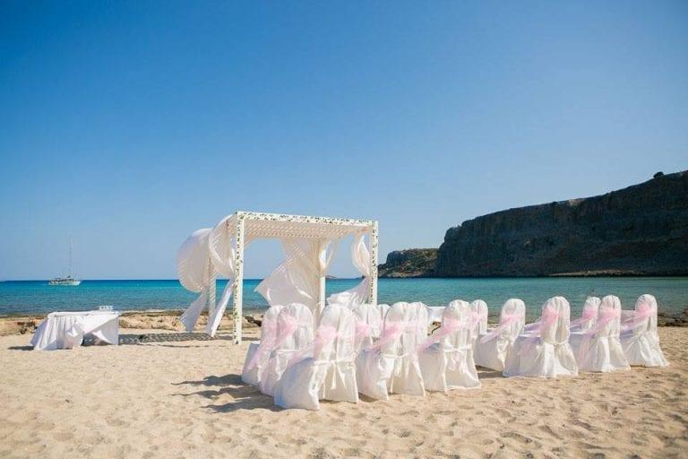 beach wedding lindos