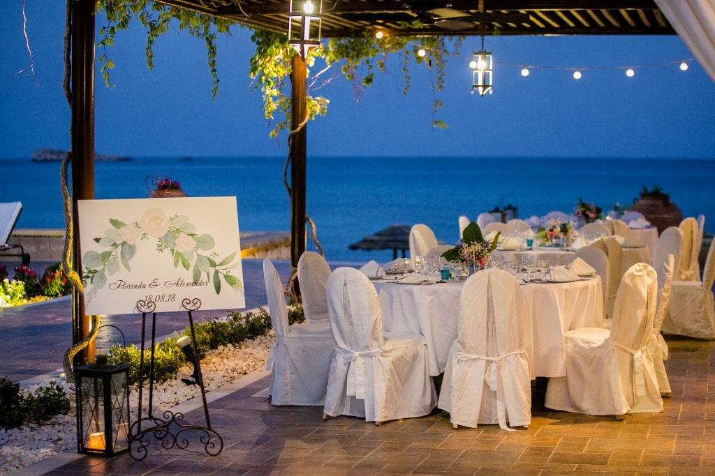 amazing wedding reception venue Lindos