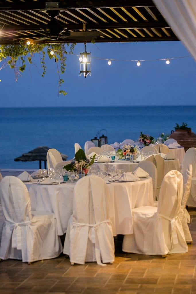 elegant wedding reception Rhodes