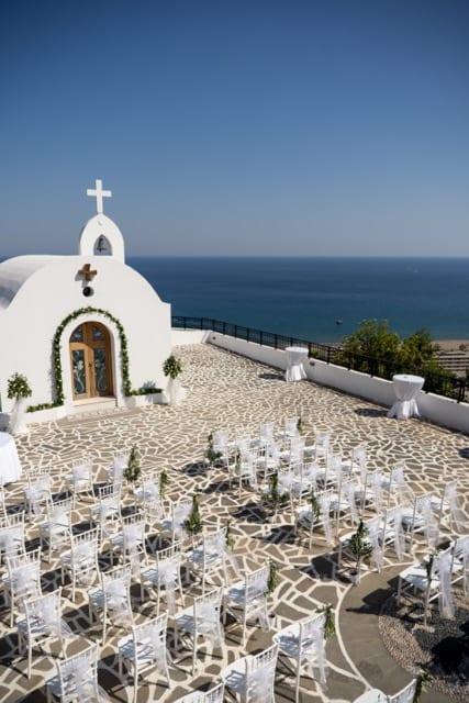 chapel wedding in Rhodes
