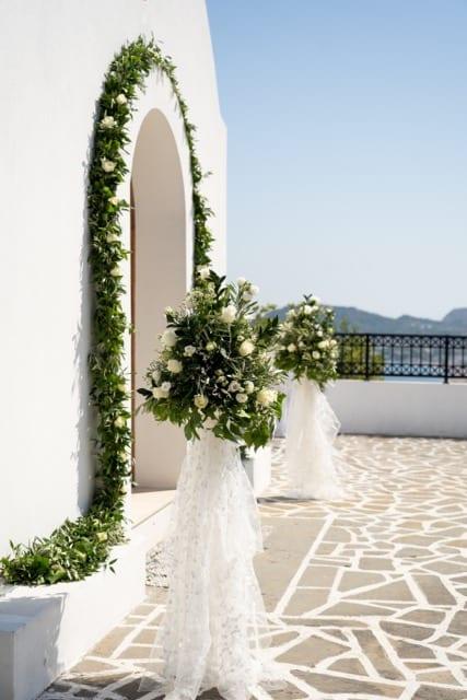 wedding flower stands at St Sophia