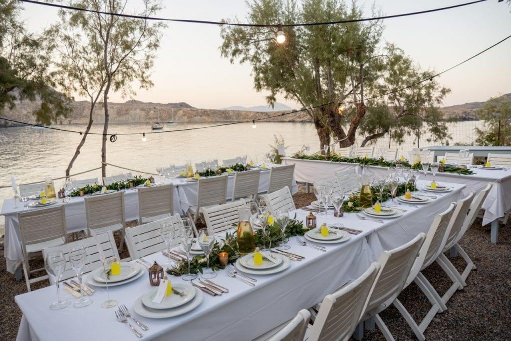 sea view reception venue Rhodes