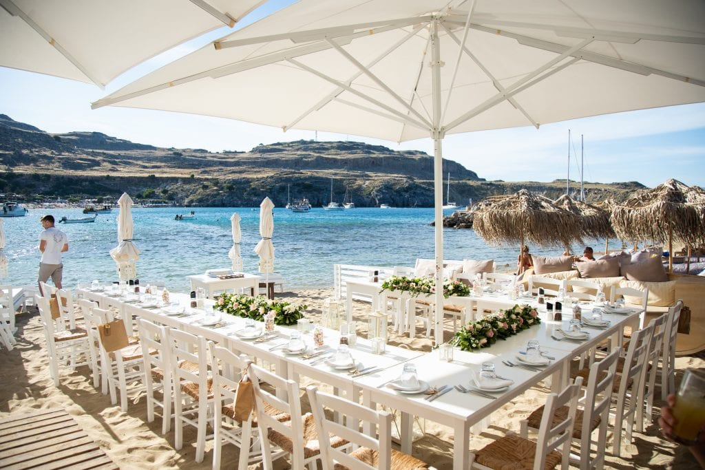 lindos beach reception venue