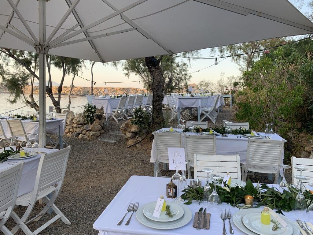 wedding reception Lindos